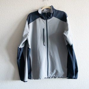 The North Face Gray Blue Windwall Jacket XL